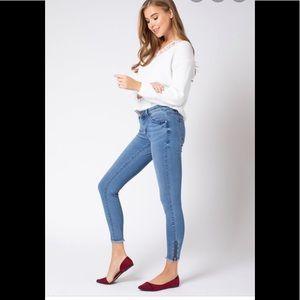 KanCan Estilo skinny distressed zipper Ankle Jeans